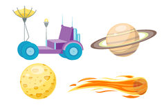 Astronomy space cartoon set vector. Stock Images