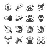Astronomy and space icons. Flat Design Vector Illustration: Astronomy and space icons Stock Photos