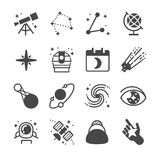 Astronomy and space icons vector illustration