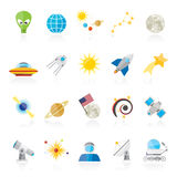 Astronomy and space icons Royalty Free Stock Photography