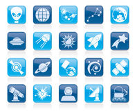 Astronomy and space icons Stock Images