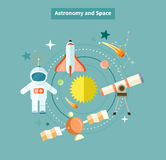 Astronomy and Space Web Page Design Stock Photography