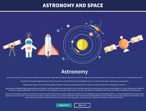 Astronomy and Space Web Page Design Royalty Free Stock Photos