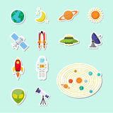 Astronomy sticker icon Royalty Free Stock Photo