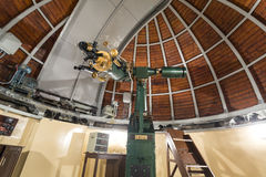 Astronomy telescope in an astronomical observatory Stock Photo