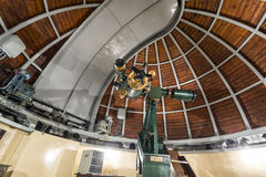 Astronomy telescope in an astronomical observatory Stock Image
