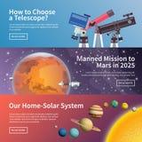 Astronomy vector banner set Stock Image