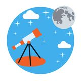 Astronomy vector concept Stock Photos