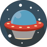 Astronomy, vector, travel ufo, mystery, alien Royalty Free Stock Photography