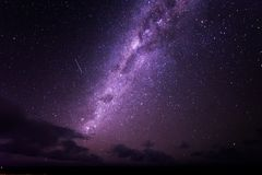 Bright stars of the Milky way galaxy. Astrophotography shot of the milkyway galaxy in the dark night sky on a clear night Royalty Free Stock Photo
