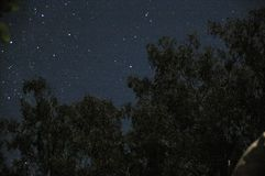 Astrophotography showing the night sky with constellations. From rural Australia royalty free stock images