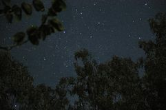 Astrophotography showing the night sky with constellations. From rural Australia stock photo