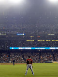 Astros right fielder Brian Bogusevic stands in the outfield wait Royalty Free Stock Photos