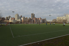 Astroturf soccer field, Roosevelt Island, New York Stock Photos