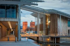 The Astrup Fearnley Museum of Modern Art in Oslo. royalty free stock image