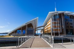 The Astrup Fearnley Museum of Modern Art . It is a privately own. OSLO, NORWAY - APRIL 26, 2018: The Astrup Fearnley Museum of Modern Art . It is a privately stock images