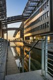 Astrup Fearnley Museum in Oslo during sundown Royalty Free Stock Photography