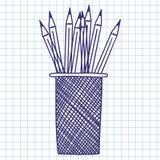 Astuccio per le matite Fotografia Stock