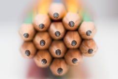 Astuce affilée des crayons Photographie stock libre de droits