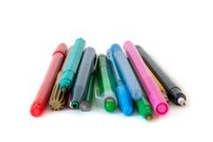 Astuce colorée de feutre Photographie stock