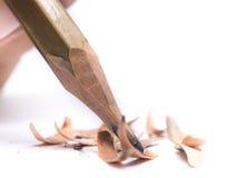 Astuce de crayon de plan rapproché sur le fond blanc Image stock