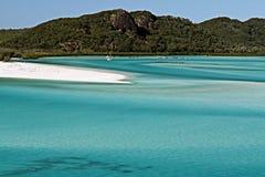 Astuce de plage de Whitehaven Images stock