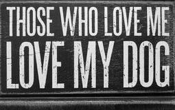Astuces au sujet de chien et de moi Photo stock