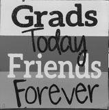 Astuces au sujet des amis et des diplômés Image stock