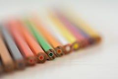 Astuces colorées de crayon Photographie stock