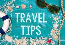 Astuces de voyage - vacances de plage d'été Photo stock
