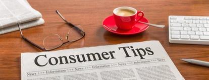 Astuces du consommateur image libre de droits