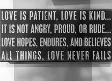 Astuces gentilles au sujet de l'amour dans notre vie Image libre de droits