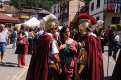 Astur-Roman Festival CARABANZO. Roman legionnaires   Astur-Roman Festival of  La Carisa   CARABANZO  Asturias SPAIN Royalty Free Stock Photo