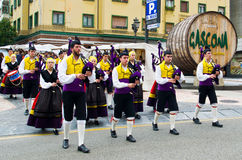 Asturian bagpipe ensemble Stock Photography