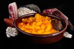 Asturian bean stew. Stock Images