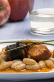 Asturian ham and beans.Spanish cuisine. Stock Image