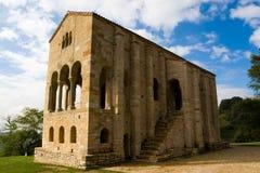 Asturian pre Romanesque. Church preRomanesque of Santa Maria del Naranco (IX century) in Oviedo Asturias, Spain. Declared cultural patrimony of the humanity by Stock Image