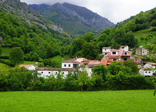 ASTURIAN VILLAGE. PHOTO OF TYPICAL ASTURIAN LANDSCAPE Royalty Free Stock Image