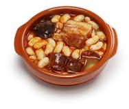Asturiana de Fabada, ragoût espagnol de haricot blanc Image libre de droits