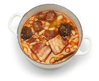 Asturiana de Fabada, ragoût espagnol de haricot blanc Photos libres de droits