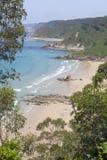 Asturias Beach. `Playa de Aguilar`, De Aguilar Beach stock photo