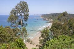 Asturias Beach. `Playa de Aguilar`, De Aguilar Beach royalty free stock images