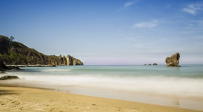 Asturias. On the beach of Asturias (Spain Stock Images