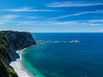 Asturias coast. Panoramic coast area. Asturias. Spain Royalty Free Stock Images