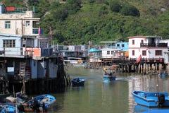 asturias cudillero fiskespain by Arkivbilder
