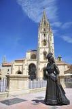 asturias domkyrka oviedo Royaltyfria Bilder