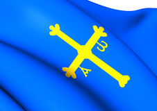 Asturias Flag, Spain. Royalty Free Stock Image