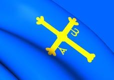 Asturias Flag, Spain. Royalty Free Stock Photos