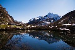 asturias lake somiedo Royaltyfria Bilder