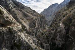 ASturias. Path of the river Cares, Picos de Europa. Asturias stock photography